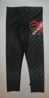 Zara Terez For Soulcycle Crop Pants Black Gray Pink Heart Skulls Yoga Gym Euc Xs