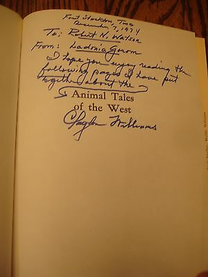 TEXAS ESTATE 1974 1st ED SIGNED ANIMAL TALES OF THE WEST CLAYTON WILLIAMS