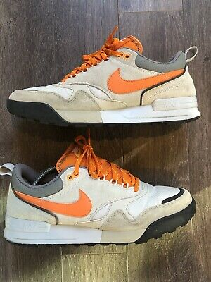 2ad175f7a026a Nike Air Odyssey Men s Athletic Trainers Shoes White Orange Tan Grey Size 11