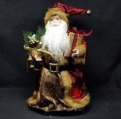 "Kurt S. Adler Christmas Tree Topper Top Santa Claus 16"" Burgundy H2776 Htf Deco"
