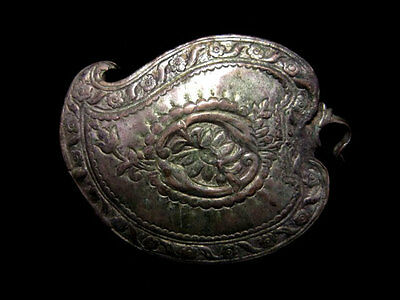 Beautiful Antique Top Decorated Silver Buckle!!!
