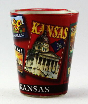 Kansas State Poster Art Shot Glass Rtp