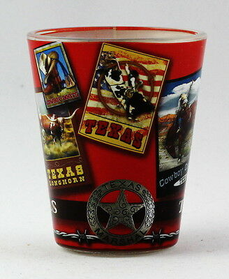 Texas Poster Art Shot Glass Rtp