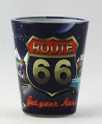 Route 66 Retro Collage Shot Glass Rtp