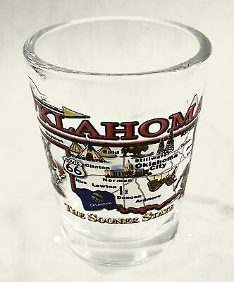Oklahoma State Map Design Clear Shot Glass Rtp