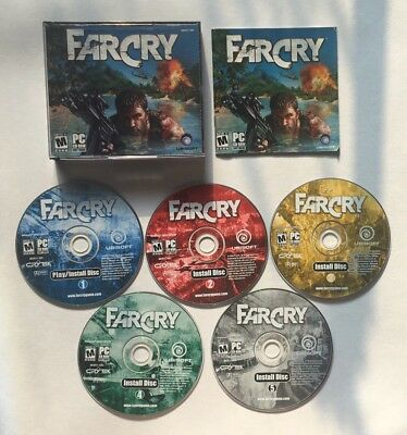 Far Cry PC Ubisoft 2004 5-Disc VERY CLEAN