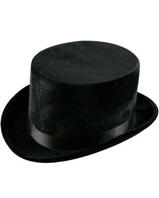 Black Velvet Top Hat One Size