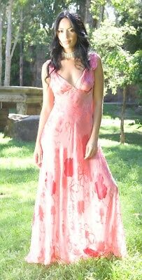 Long Silk Nightie -  Available in 5 Colours & Sizes 8 - 16: 20% off (was $70.95)