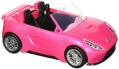 Barbie Glam Convertible - Two-seat sparkly pink car for Barbie and a friend