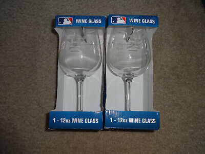 892ce03ffdc7 MLB Houston Astros Etched 12oz Wine Glass Set/Lot of 2 Boelter Brands NEW