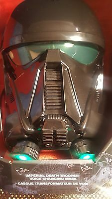 Star Wars:Rogue One , Imperial Trooper Voice Changing Light Up Mask New in Box