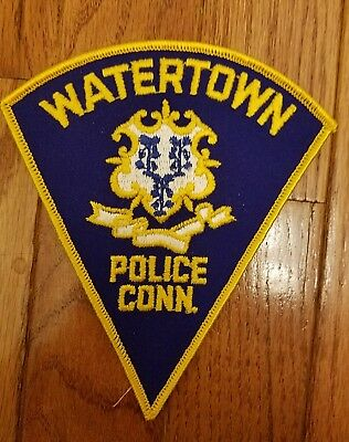 VINTAGE WATERTOWN, CONNECTICUT triangle police patch