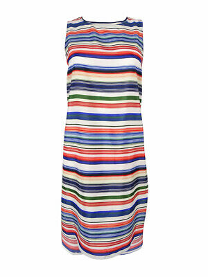 Vince Camuto Women's 'Escape Stripe' High/Low Tunic (XS, Antique White)