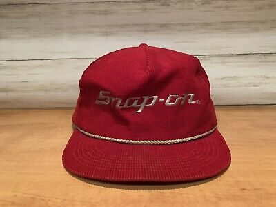 1ad3ec142b096 Vintage Snap-On red corduroy K-Products USA red trucker hat