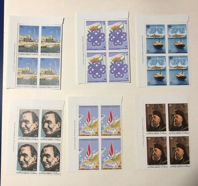 Cyprus MNH 1983 SG619-24 Anniversaries and Events BLOCKS OF CORNER #4