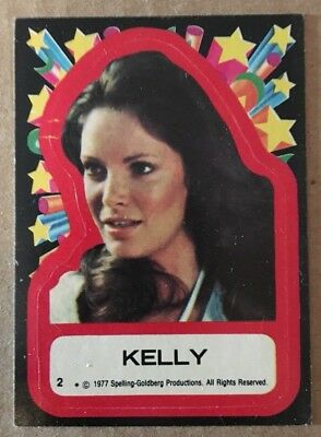 1977 Topps Charlies Angels Stickers 2 Kelly Garrett Trading Card EX Jaclyn Smith