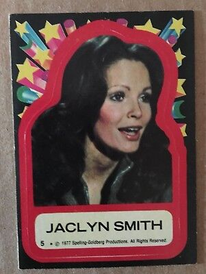 1977 Topps Charlies Angels Stickers #5 Kelly Trading Card Jaclyn Smith