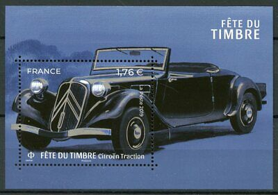 France 2019 MNH Stamp Day Stylish Cars Citroen Traction 1v M/S Stamps