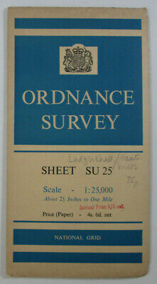 1958 Old Vintage OS Ordnance Survey 1:25000 First Series Map SU 25 Collingbourne