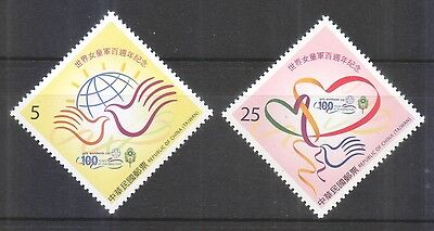 Rep. Of China Taiwan 2010 Centenary Of Girl Scouting Comp. Set Of 2 Stamps Mint