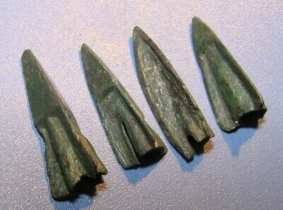 Scythian Vikings arrowheads 7 - 2 nd century BC bronze. VERY RARE. ORIGINAL