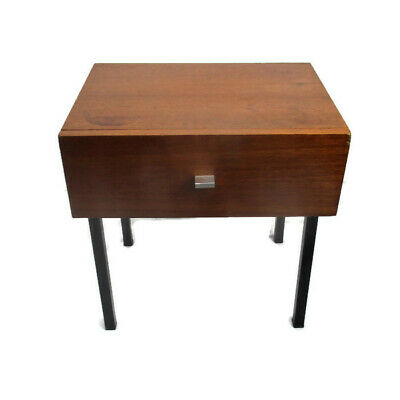 Vintage Funky Nightstand Wood Mid Century Danish Modern style End table Commode