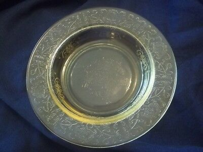DEPRESSION GLASS HAZEL- ATLAS YELLOW FLORENTINE POPPY  Butter Dish Base Only!