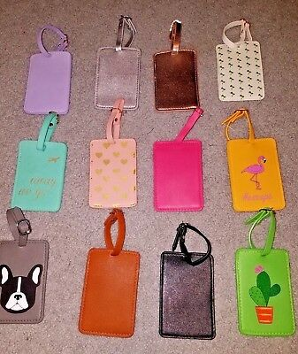 Going Places Leather Suitcase Luggage Tags Name Address ID Address Cell e-Mail