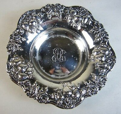 Antique Repousse Woodside Sterling Silver Whiting Strawberry Dish Bowl 1.73-ozt