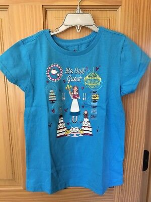 NWT Disney store Princess Belle T Shirt tee top Girl Beauty and the Beast