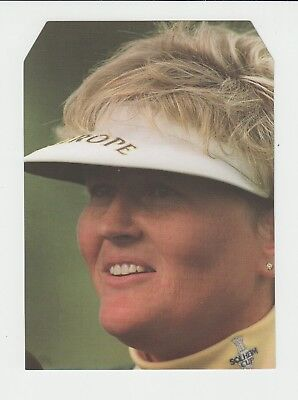 Golf : Laura Davies : large unusually shaped UK sports card