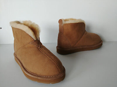e38531df162 CABELA'S WOMENS BOOTIE Slippers Leather Shearling Brown 6 - $14.99 ...