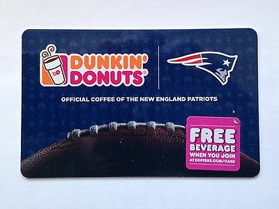 THE NEW ENGLAND PATRIOTS NFL DUNKIN DONUTS  GIFT CARD, Tom Brady FOOTBALL