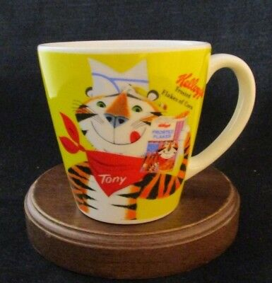 Vintage Kellogg's Frosted Flakes Tony the Tiger Coffee Mug Yellow Rarest One