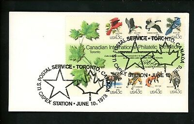 US FDC #1757 Unknown 1978 Toronto ON Canada CAPEX 78 Animals Unofficial