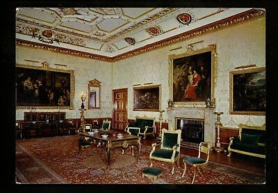 Fireplace postcard Windsor Castle The King's Drawing Room King Charles II