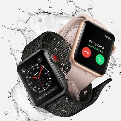 Apple Watch Series 3 38MM 42MM GPS Cellular 4G LTE Aluminum Stainless Sport Band