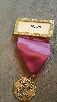 1972 indiana democratic state convention delegate badge