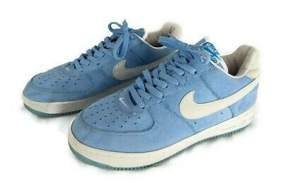 new style 233a1 e9a45 NIKE AIR FORCE 1 Shoes Light Blue Suede Mens SZ 10 Low Top 010406 Sneakers  LN3