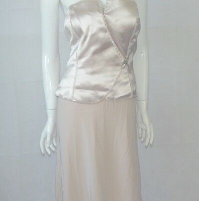 Montage Mon Cheri Collection Mother of the Bride Ivory Silk Formal Dress Size 16