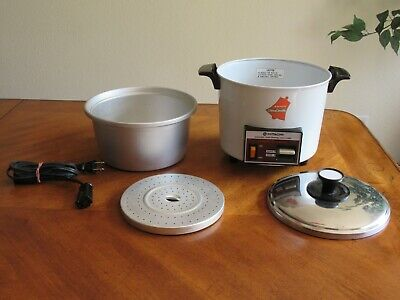 HITACHI Chime-O-Matic Automatic Rice Cooker Food Steamer 5.6 Cup RD-4053 White