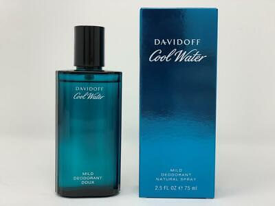 Cool Water By Davidoff Mild Deodorant Cologne For Men 2.5 oz Spray Brand New