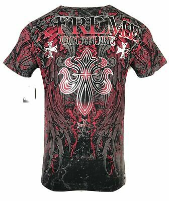 XTREME COUTURE by AFFLICTION Men T-Shirt BOLD CIPHER Biker WING MMA Gym S-4X $40