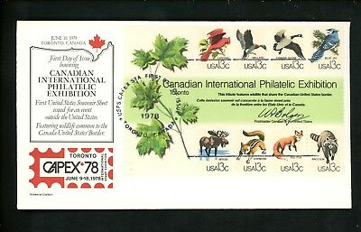US FDC #1757 Aristocrat 1978 Toronto ON Canada CAPEX 78 Animals
