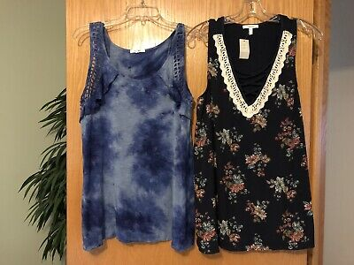 3a1a958024260d LOT OF 2 Womens Maurices tank tops size Large L One NWT! -  18.99 ...