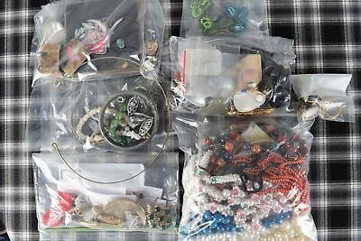 Super Huge Vintage / Antique Mixed Jewelry Item Lot ~ Over 2 Pounds! WYSIWYG