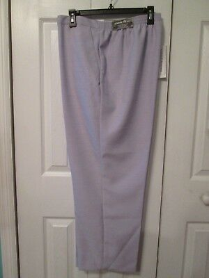 7522e8ae69 NWT Alfred Dunner Woman's Lilac Linen Look Elastic Waist Pull On Pants 18  Short