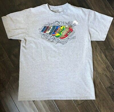 5aa01988 VINTAGE NIKE GRAY Tag Jam 7 Days A Week Sneaker T-shirt Size Large ...