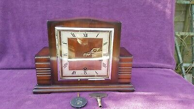 Rare Vintage Antique Smiths Enfield Westminster Chime Mantel Clock Working