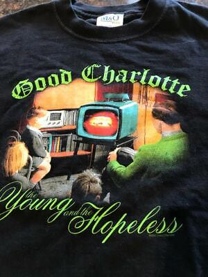 """Vintage 2002 Good Charlotte """"The Young And The Hopeless"""" T-shirt"""